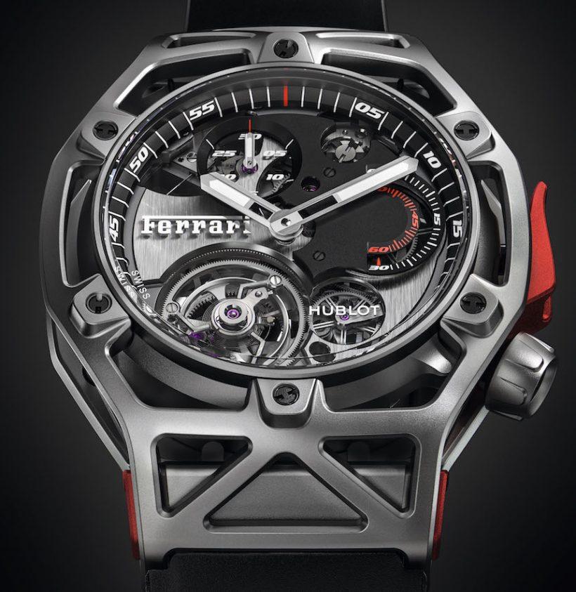 b2660b61461c Replicas Hublot Techframe Ferrari Tourbillon Chronograph Watch ...