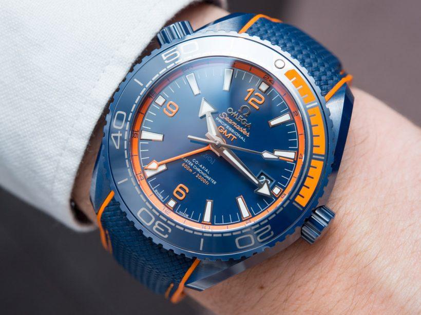 390b1189a4e1 Replicas Relojes Omega Seamaster Planet Ocean Big Blue Cerámica GMT Práctica